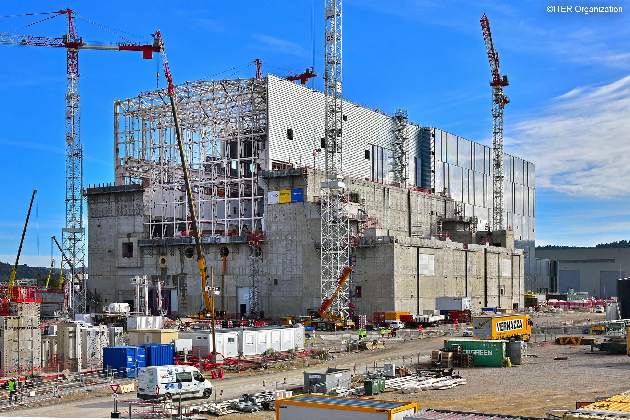 ITER建設サイトの状況(2020年2月現在)